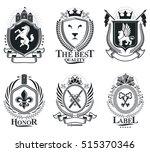retro vintage insignias. vector ... | Shutterstock .eps vector #515370346