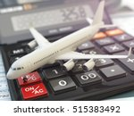 travel cost calculation concept.... | Shutterstock . vector #515383492