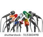 microphones prepared for press... | Shutterstock . vector #515383498