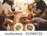 asian people having breakfast... | Shutterstock . vector #515383732
