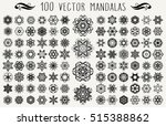 set of ornate lacy doodle... | Shutterstock . vector #515388862