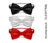 realistic white  black and red... | Shutterstock .eps vector #515397988