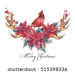 christmas illustration with the ... | Shutterstock . vector #515398336