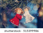 Two Small Dolls Angels With...