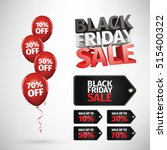 group of balloons   sale... | Shutterstock .eps vector #515400322