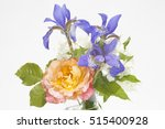 bouquet a jasmine and irises on ... | Shutterstock . vector #515400928