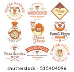 vector handmade and wood cooked ...   Shutterstock .eps vector #515404096