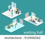 waiting room in hospital.... | Shutterstock . vector #515406562