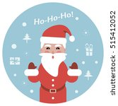 christmas background with santa ... | Shutterstock .eps vector #515412052