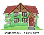 illustration of a country house ... | Shutterstock .eps vector #515415895