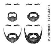 set of various shapes beard ... | Shutterstock .eps vector #515416546