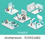 isometric flat interior of... | Shutterstock . vector #515421682