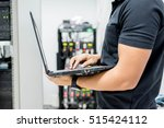 hands of the technician... | Shutterstock . vector #515424112