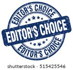 editor's choice stamp.  blue... | Shutterstock .eps vector #515425546
