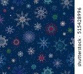 snowflakes pattern. vector... | Shutterstock .eps vector #515428996