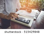 business woman calculate and... | Shutterstock . vector #515429848