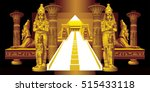 architectural fantasy in the... | Shutterstock .eps vector #515433118