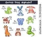 Funny Animals Alphabet. Cute...