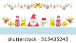 christmas character line style... | Shutterstock .eps vector #515435245