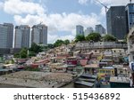 colorful houses of the poor... | Shutterstock . vector #515436892