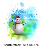 blue and green christmas spash... | Shutterstock .eps vector #515438476