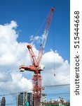 crane for construction with... | Shutterstock . vector #515444668