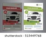 set a5  a4 rent a car business... | Shutterstock .eps vector #515449768