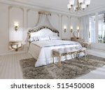 Luxurious Bedroom In White...