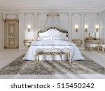luxurious bedroom in white... | Shutterstock . vector #515450242