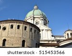 view of two churches in piazza... | Shutterstock . vector #515453566
