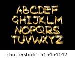 golden metallic shiny letters... | Shutterstock .eps vector #515454142