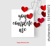 sweet quote with hearts for... | Shutterstock .eps vector #515458372