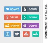 donate button vector set in a... | Shutterstock .eps vector #515463556