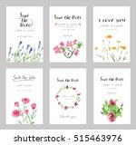 hand drawn vector save the date ... | Shutterstock .eps vector #515463976