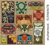 vector vintage items  label art ... | Shutterstock .eps vector #515464678