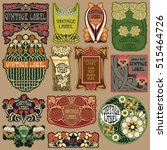vector vintage items  label art ...   Shutterstock .eps vector #515464726