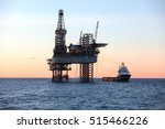 offshore oil rig drilling... | Shutterstock . vector #515466226
