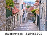 old stone street of split... | Shutterstock . vector #515468902