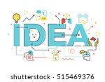 creative idea word concept ... | Shutterstock .eps vector #515469376