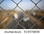 barbed wire in autobahn highway | Shutterstock . vector #515470858