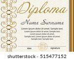 diploma or certificate template.... | Shutterstock .eps vector #515477152