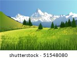 mountain landscape | Shutterstock .eps vector #51548080