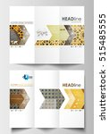 tri fold brochure business... | Shutterstock .eps vector #515485555