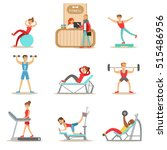 people member of the fitness... | Shutterstock .eps vector #515486956