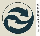exchange and convert icon.... | Shutterstock .eps vector #515492518