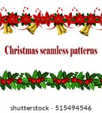 set of n seamless christmas... | Shutterstock .eps vector #515494546