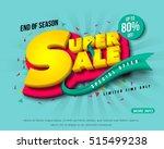 sale banner template design ... | Shutterstock .eps vector #515499238