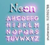 realistic neon character... | Shutterstock .eps vector #515501788