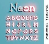 realistic neon character... | Shutterstock .eps vector #515501908