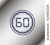 electronic timer 60 seconds. | Shutterstock .eps vector #515502235